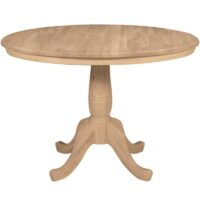 Traditional Round Kitchen Table 42 inches