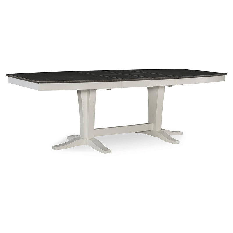 T05 4096tt Cosmopolitan Dining Table Heather Grey And White