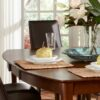Cosmopolitan Salerno Vineyard Extension Dining Table in Espresso with Parsons Chairs
