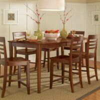 John Thomas Salerno Butterfly Extension High Dining Table in Espresso.