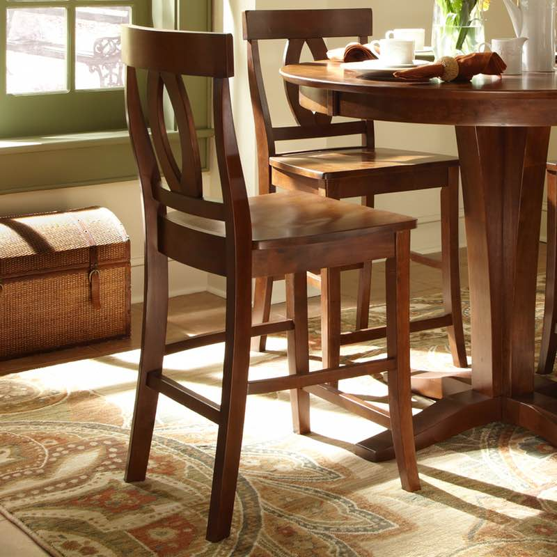 Cosmopolitan Verona Counter Height Pub Table and stools in Espresso