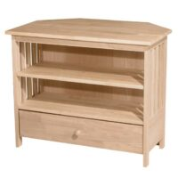 Whitewood Mission Corner TV Stand