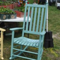 Troutman Classic Shaker Rocker in Seaside paint