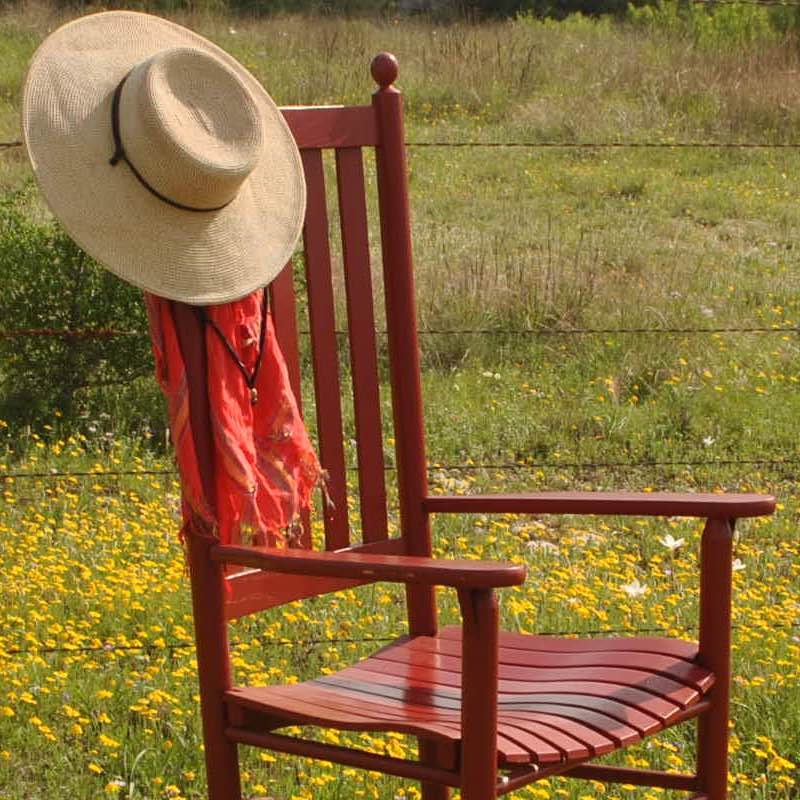 Troutman Classic Shaker Rocker in Geranium Red paint