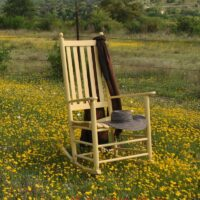 Troutman Classic Shaker Rocker in Yellow paint