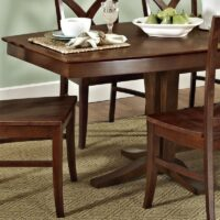 T581-4096 Espresso Milano Double Pedestal Dining Table