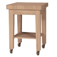 Small Butcher Block Rolling Kitchen Cart