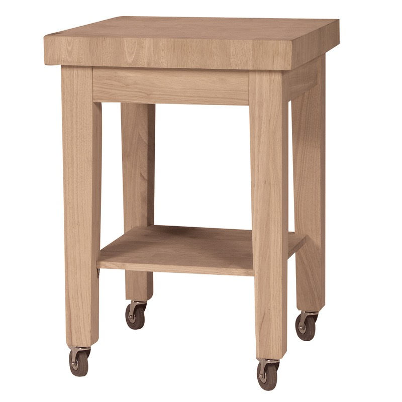 charming Rolling Butcher Block Kitchen Cart #5: Furniture In the Raw