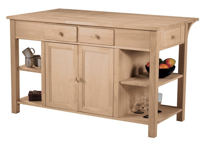 Whitewood Super Kitchen Center With Breakfast Bar