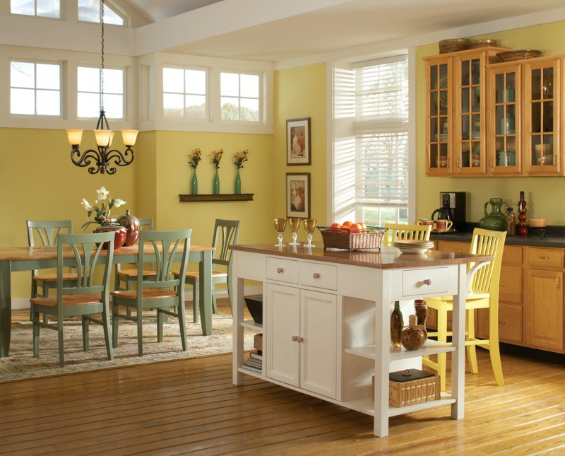 Whitewood White Kitchen Island