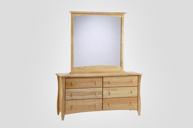 The new energy clove dresser in pecan with optional mirror for Furniture in the raw