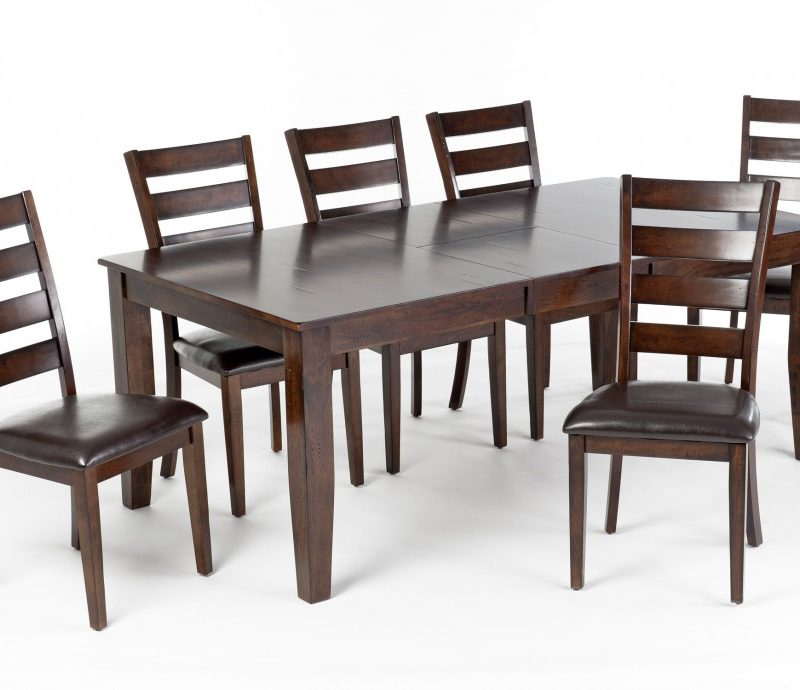 ... Extension Dining Table Set Free Shipping. Intercon Kona Ladderback Side Chair  sc 1 st  Furniture In the Raw & Kona Extension Dining Table Set with 6 ladder back chairs