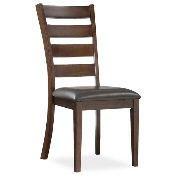 intercon kona ladderback side chair is solid mango and upholstered seat