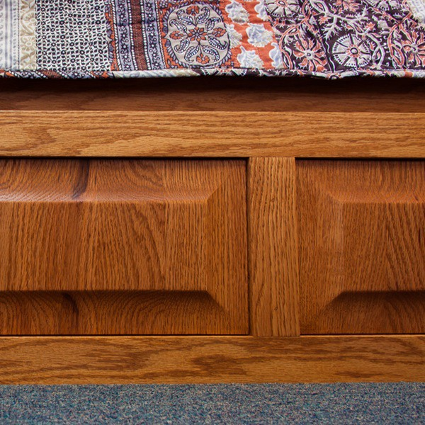 Furniture in the Raw Murphy Bed in oak with raised panel footboard ...