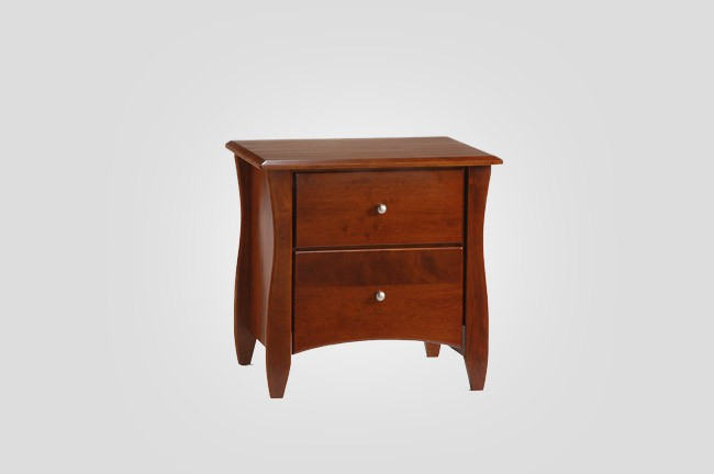 The New Energy Clove Nightstand in Cherry.