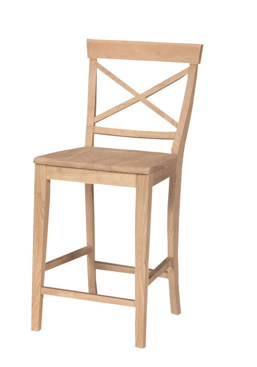 Whitewood X Back Stool 24 Inch Furniture In The Raw