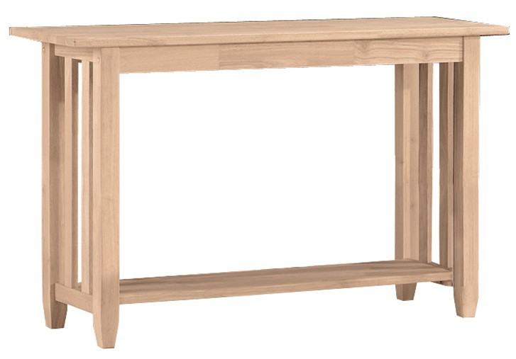 Whitewood Mission Sofa Table