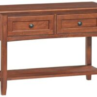 The Whittier McKenzie Entry Table in Antique Glazed Cherry Finish