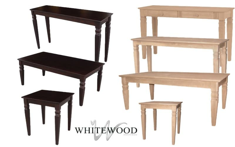 Whitewood Bookcases For Kids Shaker Solid Parawood: Whitewood Java Occasional Tables Collection
