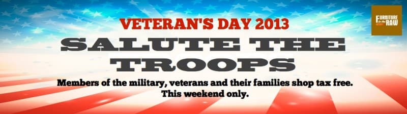 Veteran's Day Sale 2013