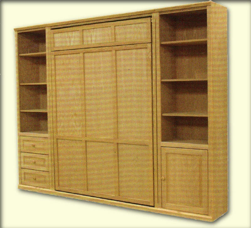 Furniture In The Raw Unfinished Oak Murphy Bed With Optional Side Cabinets Furniture In The Raw
