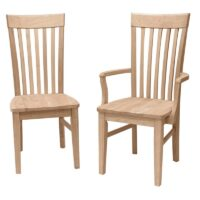 Tall Mission Arm Chair and Side Chair