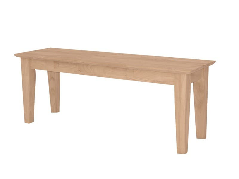 Whitewood Shaker Bench Collection