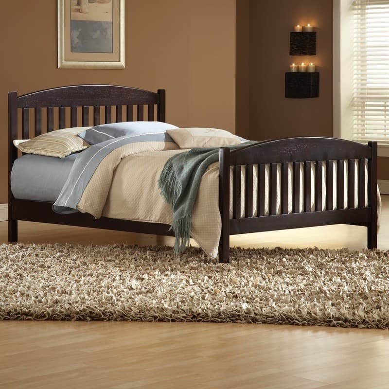 Whitewood Jamestown Bed with Espresso finish