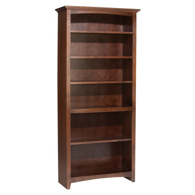 Whittier wood mckenzie bookcase collection 30 wide 48 high for Furniture in the raw