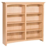 "Whittier Wood McKenzie Bookcase Collection – 48″ wide, 48"" high, unfinished"