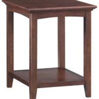 Whittier Wood McKenzie Side Table in Caffe