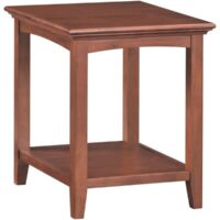 Whittier Wood McKenzie Side Table in Glazed Antique Cherry