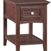 Whittier Wood McKenzie Chair Side Table in Caffe.