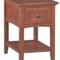 Whittier Wood McKenzie Chair Side Table in Glazed Antique Cherry