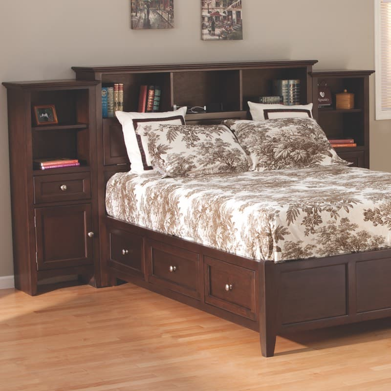 The Whittier McKenzie Bookcase Storage Bed Has Optional Piers Awesome Mckenzie Bedroom Furniture