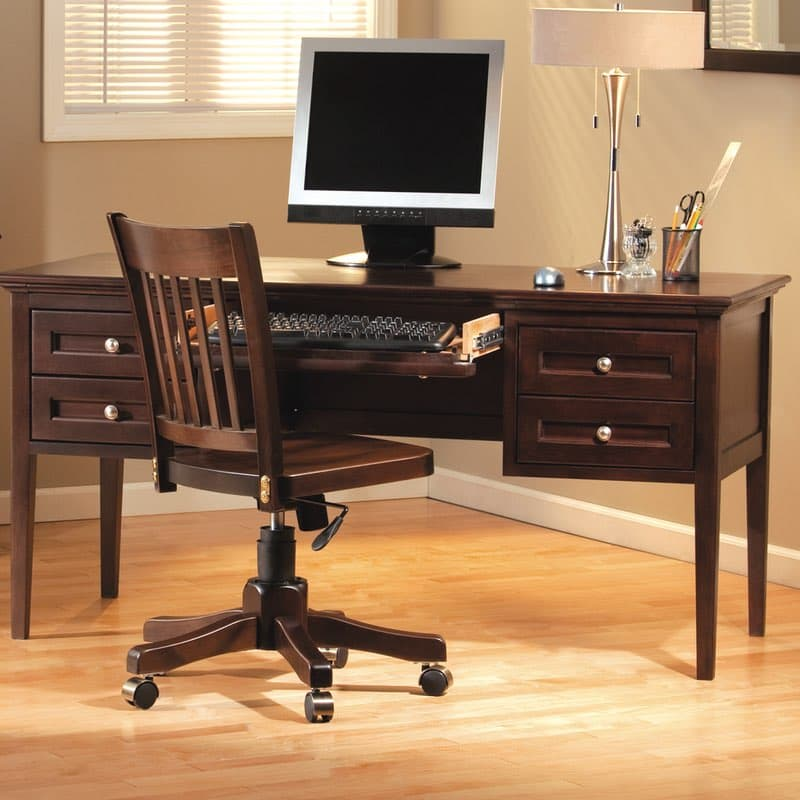 Whittier Wood Mckenzie Desk 4 Drawer