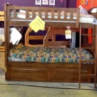 New Energy Spice Cherry Twin Over Full Bunk Bed