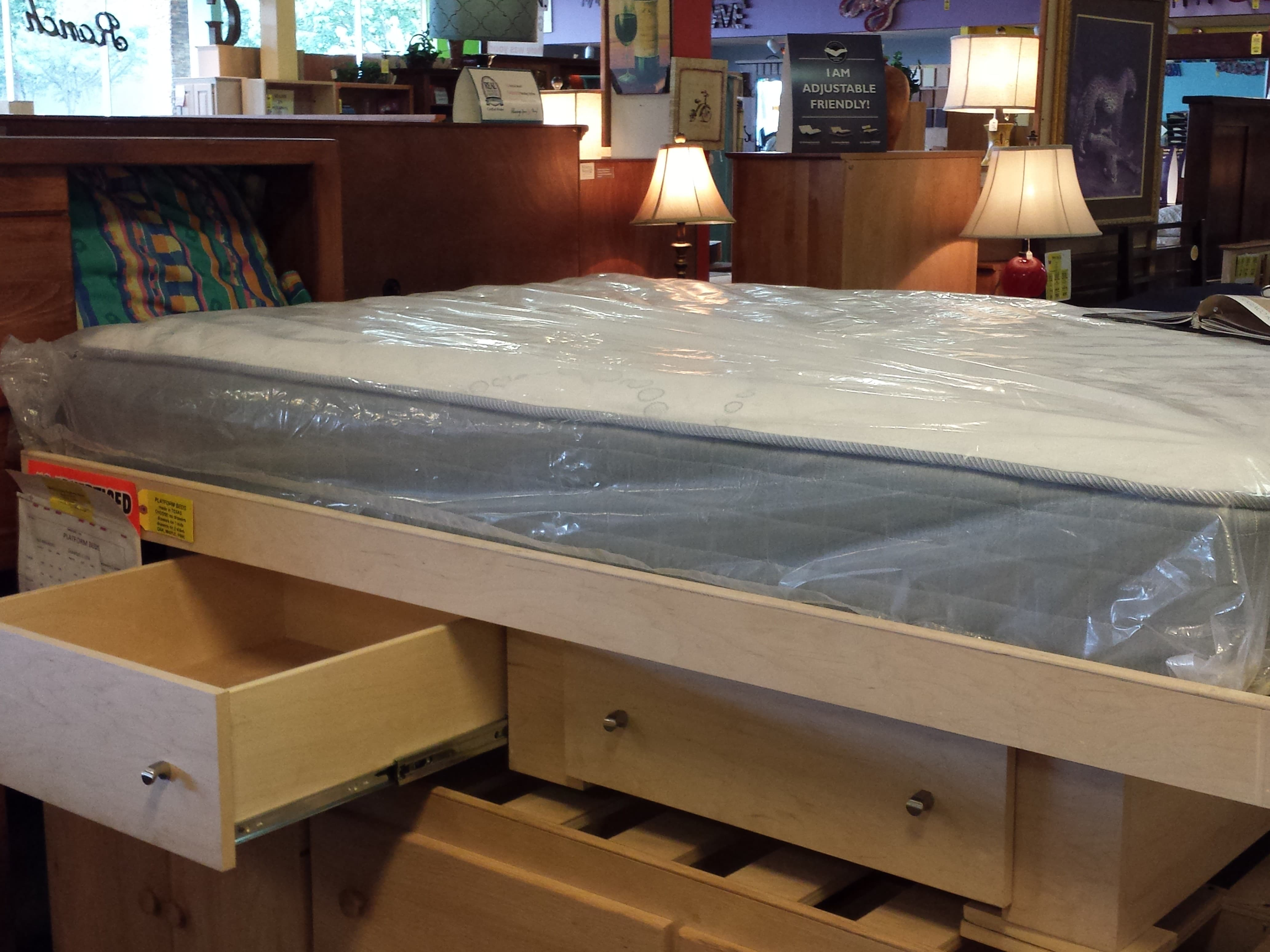 Inwood unfinished captain 39 s bed full size furniture in for Furniture in the raw