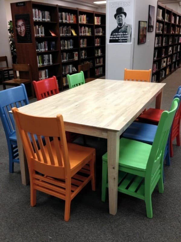 McCallum High School's New Library Table and Chairs