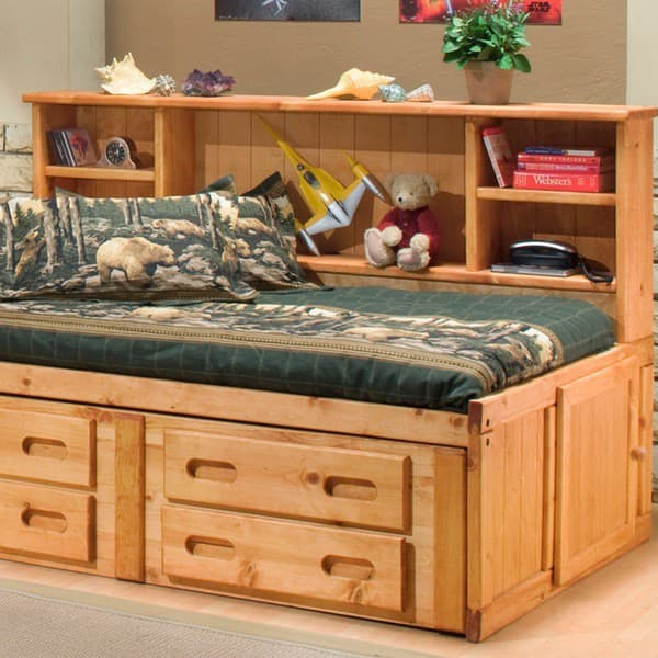 Trendwood bunkhouse cheyenne day bed headboard furniture for Furniture in the raw