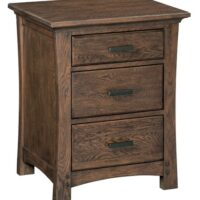 Whittier Wood Prairie City Nightstand in Autumn finish