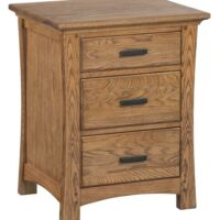Whittier Wood Prairie City Nightstand in Summer finish