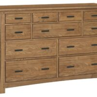 Whittier Wood Prairie City Dresser 9 drawer in Summer finish.