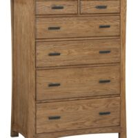 Whittier Wood Prairie City Dresser 6 drawer in Summer finish