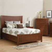 Whittier Wood Prairie City Bedroom Collection in Autumn finish