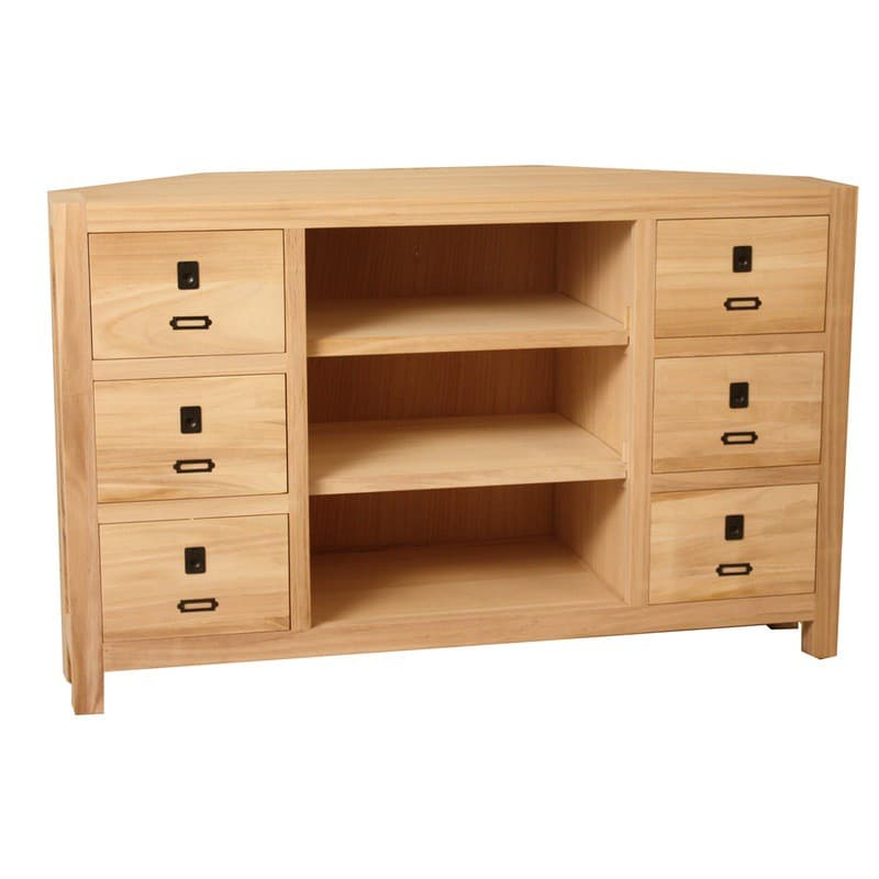 Archbold All Wood Accents Modern Corner Tv Stand