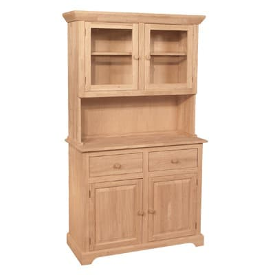 Traditional wood buffet and hutch free shipping for Furniture in the raw
