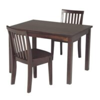 Whitewood Kids Mission Table and Chair Collection in Espresso