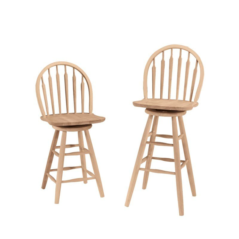 Arrowback Windsor Swivel Bar Stool And Counter Stool