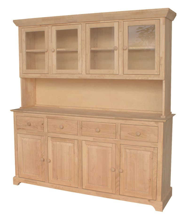 Traditional wood buffet 4 door for Furniture in the raw